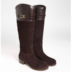 """Authentic Tory Burch """"Jenna"""" Riding Brown Boots"""